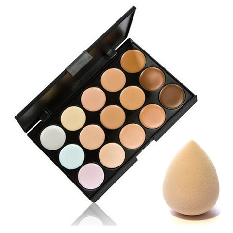 15 Colors Highly Pigmented Cream Based Professional Concealer Palette