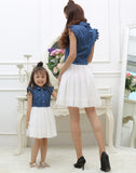 Summer Family Clothing Mom and Daughter Matching Dress