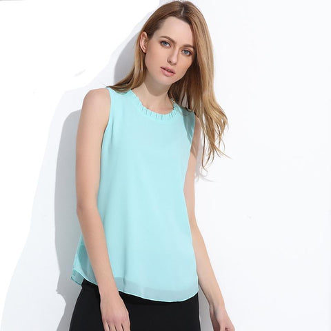 Women Summer Chiffon Tops