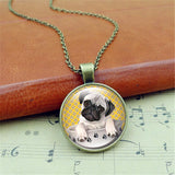 FREE Cute Pug in a Tea Cup Pendant & Necklace