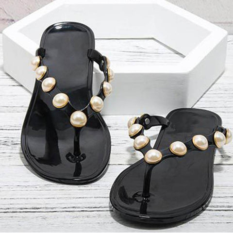 Women Pearl Fashion Slippers
