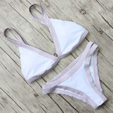 New Arrival! Low Waist Cross Bandage Bikini Set