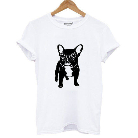FREE French Bulldog Print T-shirt for Women
