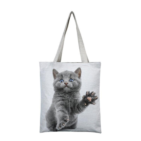 Cat Printed Shoulder Beach Bag