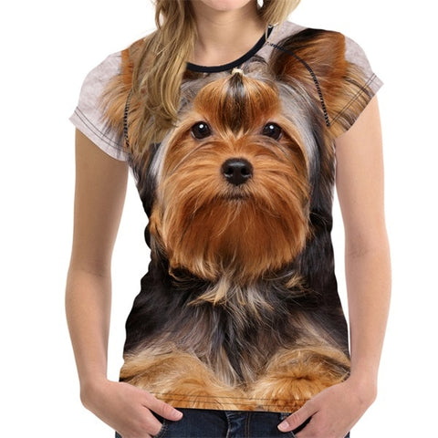 Yorkshire Terrier 3D Print Women T-Shirt