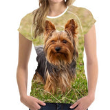 Yorkshire Terrier 3D Print Casual T-Shirt for Women