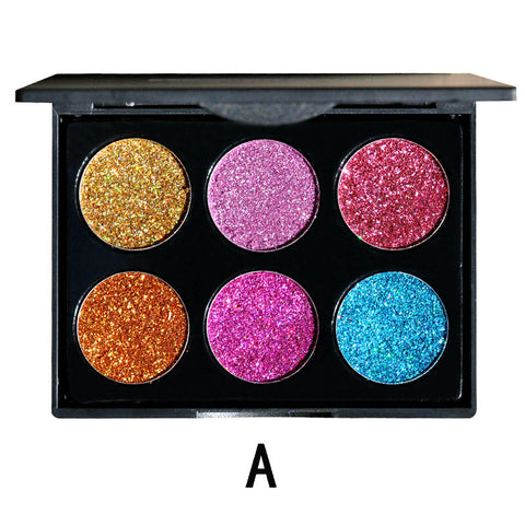 6 Color Shiny Eye shadow Palette