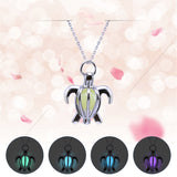 Beautiful Hollow Glow in the Dark Sea Turtle Necklace & Pendant (60% OFF)