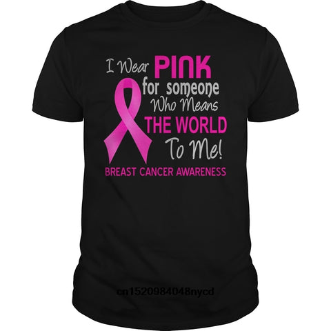 'I Wear for Someone Who Means The World To Me'' Cancer Awareness Men's T-shirt