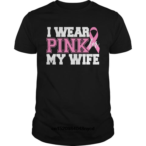 ''I Wear Pink for My Wife'' Breast Cancer Awareness Men's T-shirt
