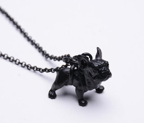FREE Vintage French Bulldog Puppy Necklace