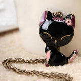 Lovely Black Cat Pendant Necklace (60% OFF)