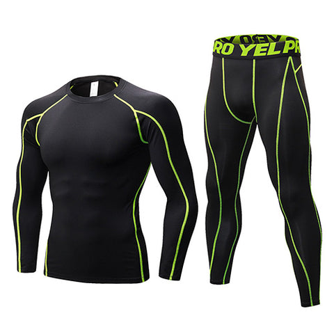 New Dry Fit Compression Fitness Running Set - Short or Long Sleeve!