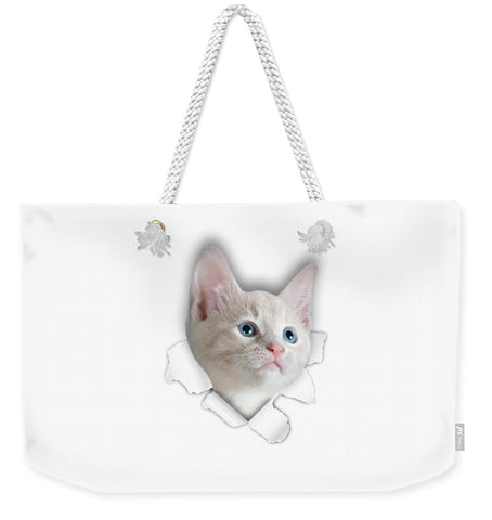 Beautiful Cat 3D Print Weekender Tote Bag