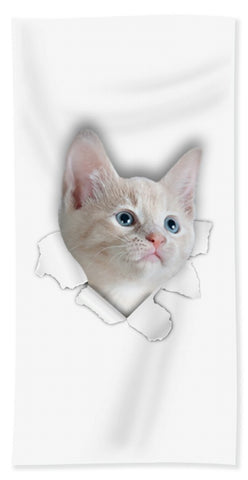 Beautiful Cat 3D Print Beach Towel