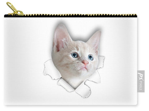 Beautiful Cat 3D Print Carry-All Pouch