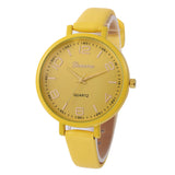 Checkers Faux Leather Wrist Watch for Women