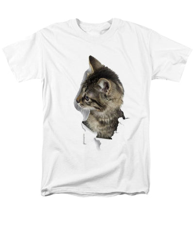 Cat Looking Right 3D Print Men's T-Shirt (Regular Fit)