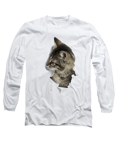Cat Looking Right 3D Long Sleeve T-Shirt