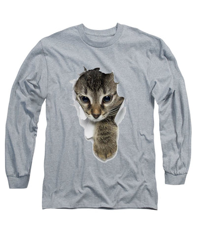 Cat Paw Sticking Out 3D Print Long Sleeve T-Shirt