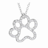 New Lovely Black & White Crystal Cat Pendant Necklace