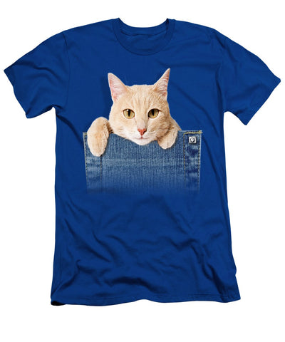 Cute Cat Men's T-Shirt (Athletic Fit)