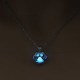 Glow In The Dark Puppy Paw Necklace
