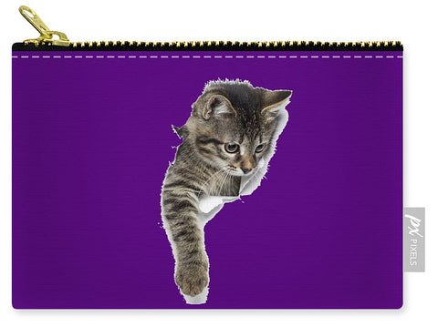 Naughty Cat Right Paw Sticking Out 3d Print Carry-All Pouch