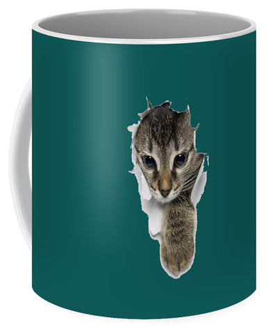 Naughty Cat Right Paw Sticking Out 3D Print Mug