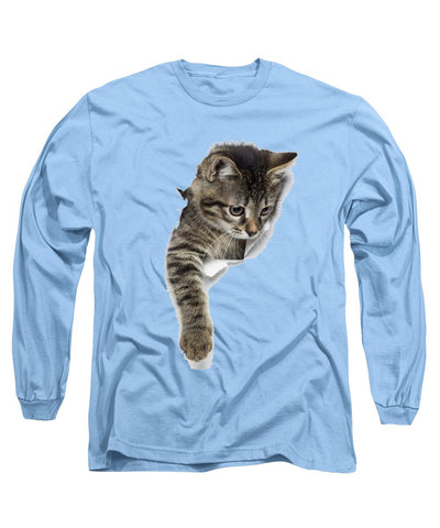 Naughty Cat Right Paw Sticking Out 3D Print Long Sleeve T-Shirt