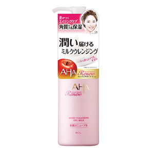 AHA by CLEANSING RESEARCH Renew Moist Gel Milk Cleansing 135ml aging care
