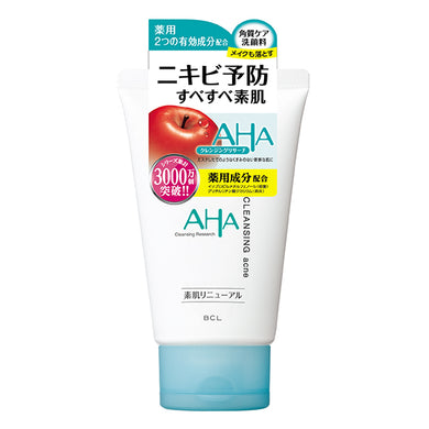 AHA by CLEANSING RESEARCH Medicated acne wash Face wash 120g <Quasi-drugs>