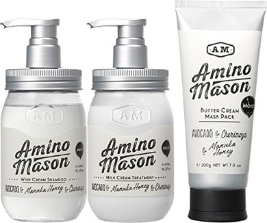 AMINO Mason Shampoo , Treatment , Mask 3sets moist type