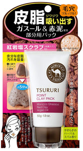 tsururi point clay pack sebum pack for suction part Gasol & Red Power 55g