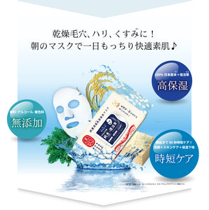 Wakahada rice face mask resurrection plant Special penetrating 32 sheets Japan
