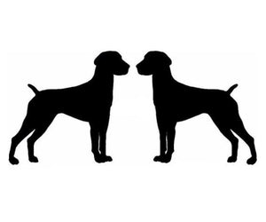 "2 German Shorthaired Pointer Vinyl 2x3"" each Pointer stickers"