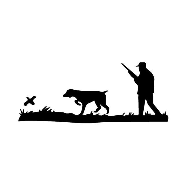 Quail Hunting Sticker 7x3