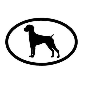 German Shorthaired Pointer Euro Style Sticker 4x6""