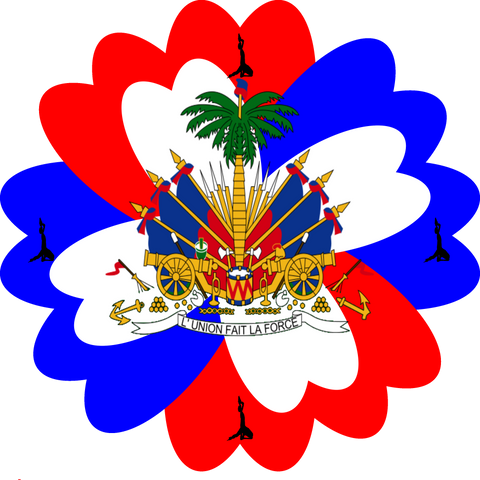 Haitian Flag Custom Design