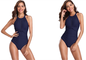 One Piece Swimsuit with Mesh - Fast-Selections
