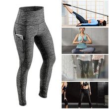 Load image into Gallery viewer, High waist Women's Leggings with Tummy and Outside Pocket - Fast-Selections