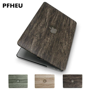 Macbook Air/Pro Protective case (Wood grain PU leather top ) - Fast-Selections
