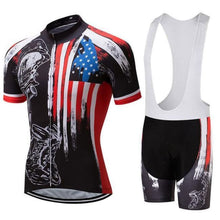 Load image into Gallery viewer, Men's Bike Apparel Set (Honor the Fallen) - Fast-Selections