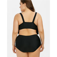 Load image into Gallery viewer, Flounce High Waist Bikini  Plus Size