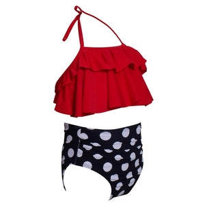 Mother Daughter Two Piece Bathing Suit Set
