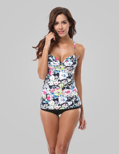 Padded Push Up Tankini Set Swimsuits - Fast-Selections
