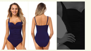 One piece Ruched Swimsuit - Fast-Selections