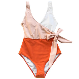 Colorblock One Piece Swimsuit XL-XXL Available