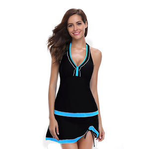 Backless Lace up Tankini set - Fast-Selections