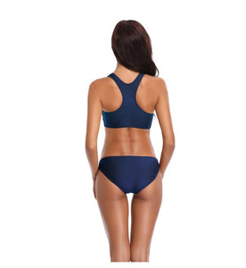 Racerback Two Piece Swimsuit Suits - Fast-Selections